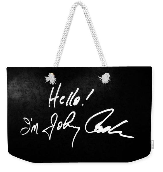 Johnny Cash Museum Weekender Tote Bag