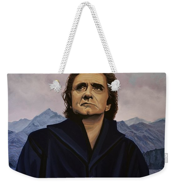 Johnny Cash Painting Weekender Tote Bag