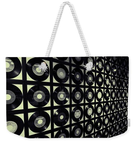 Johnny Cash Vinyl Records Weekender Tote Bag
