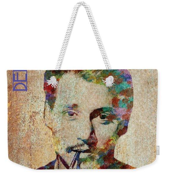Johnny Depp Watercolor Splashes Weekender Tote Bag