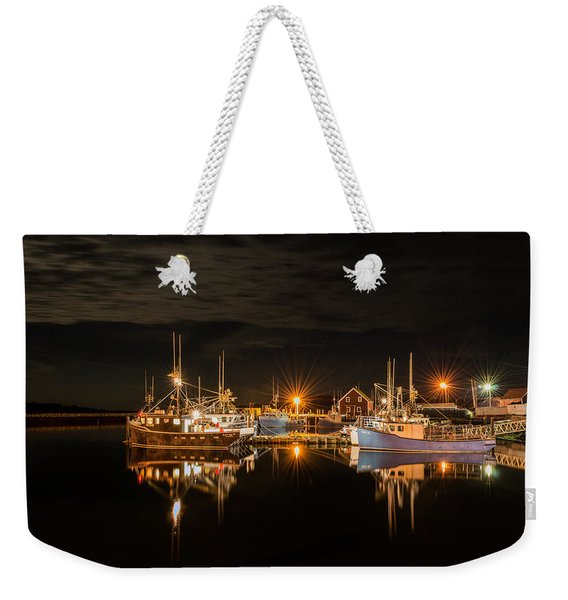 Weekender Tote Bag featuring the photograph John's Cove Reflections - Revisited by Garvin Hunter