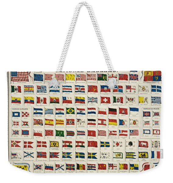 Johnsons New Chart Of National Emblems Weekender Tote Bag
