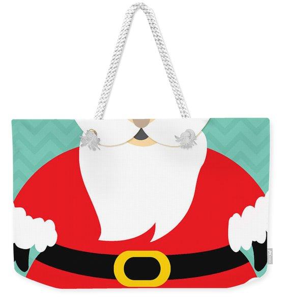 Jolly Santa Claus Weekender Tote Bag