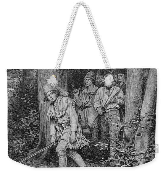 Joseph Brown Leading His Company To Nicojack, The Stronghold Of The Chickamaugas, Engraved Weekender Tote Bag