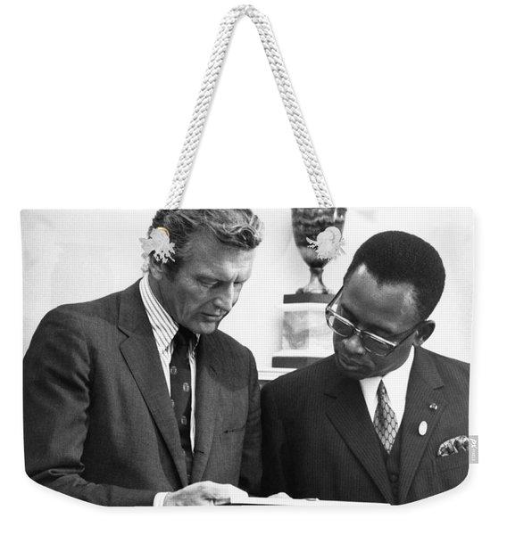Joseph Mobutu And Lindsey Weekender Tote Bag