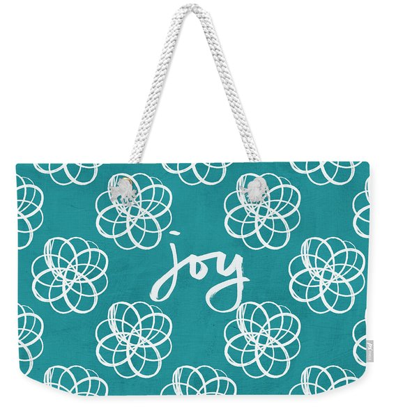 Joy Boho Floral Print Weekender Tote Bag