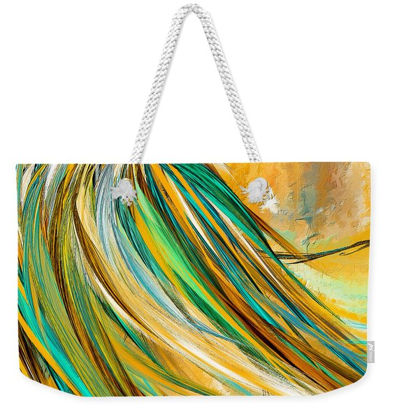 Joyous Soul- Yellow And Turquoise Artwork Weekender Tote Bag