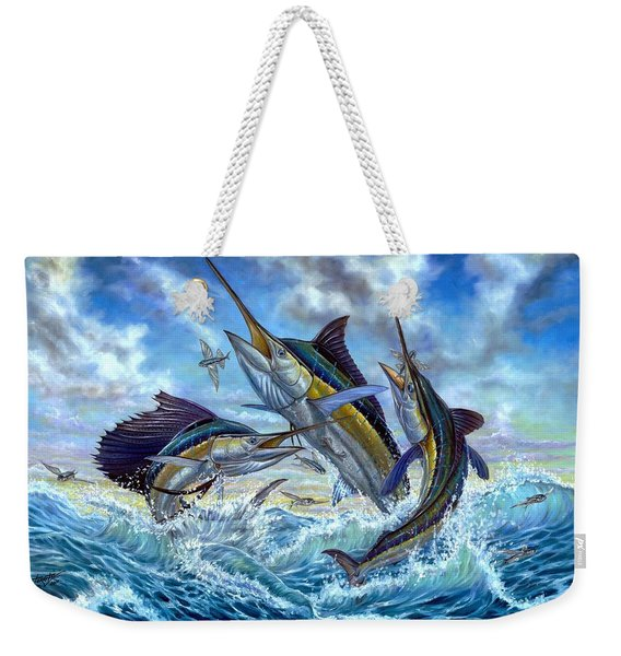 Jumping Grand Slam And Flyingfish Weekender Tote Bag