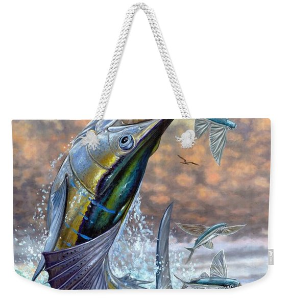 Jumping Sailfish And Flying Fishes Weekender Tote Bag