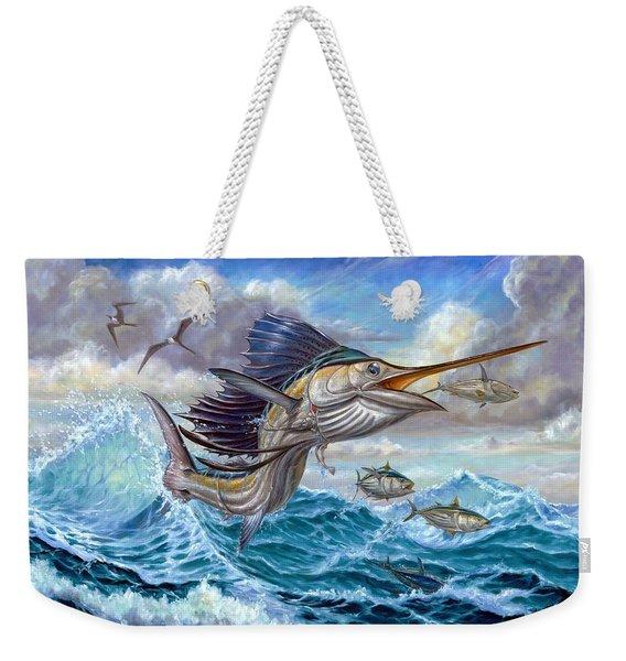 Jumping Sailfish And Small Fish Weekender Tote Bag