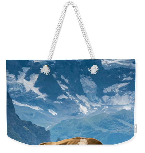Jungfrau Cow - Grindelwald - Switzerland Weekender Tote Bag