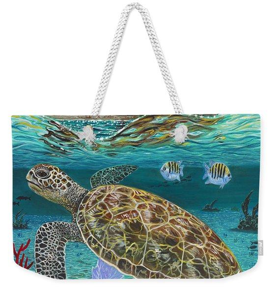 Jupiter Turtle Weekender Tote Bag
