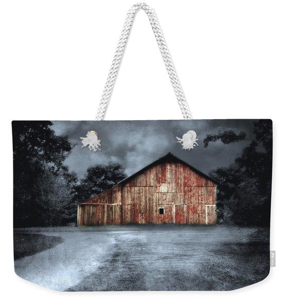 Night Time Barn Weekender Tote Bag