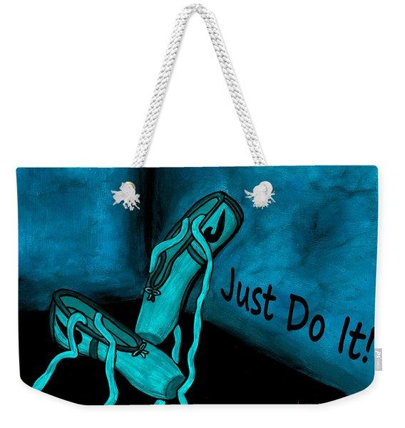 Just Do It - Blue Weekender Tote Bag