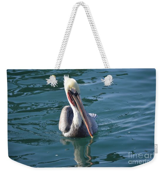 Weekender Tote Bag featuring the photograph Just Wading by Laurie Lundquist