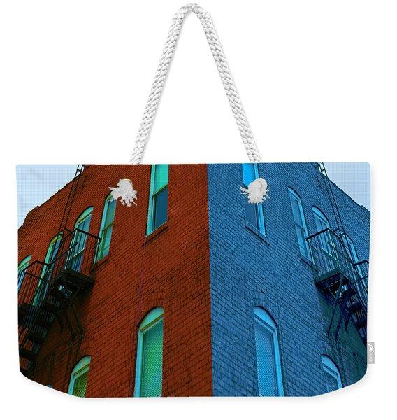 Juxtaposition - Old Building Weekender Tote Bag