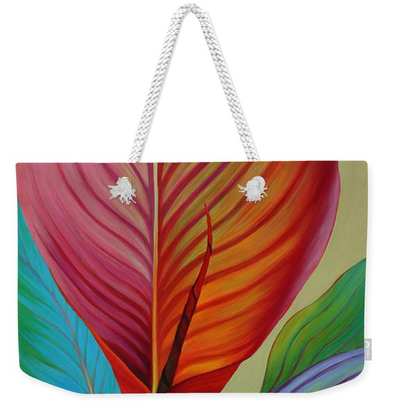 Weekender Tote Bag featuring the painting Kaleidoscope by Sandi Whetzel
