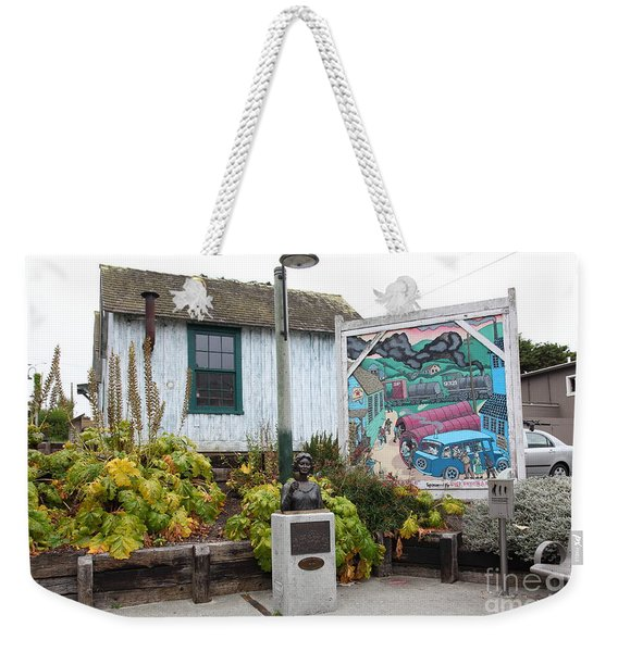 Kalisa Moore Bust Queen Of Cannery Row On Monterey Cannery Row California 5d24785 Weekender Tote Bag