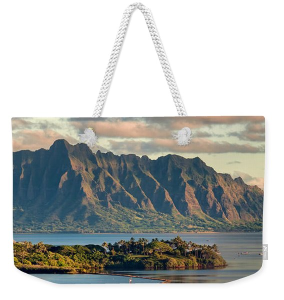 Kaneohe Bay Panorama Mural 2 Of 5 Weekender Tote Bag
