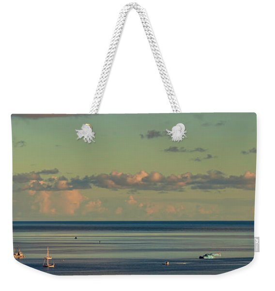 Kaneohe Bay Panorama Mural 4 Of 5 Weekender Tote Bag