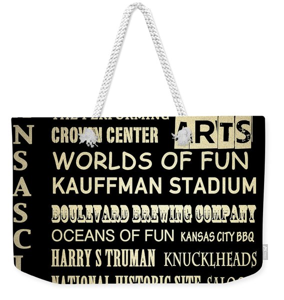 Kansas City Famous Landmarks Weekender Tote Bag