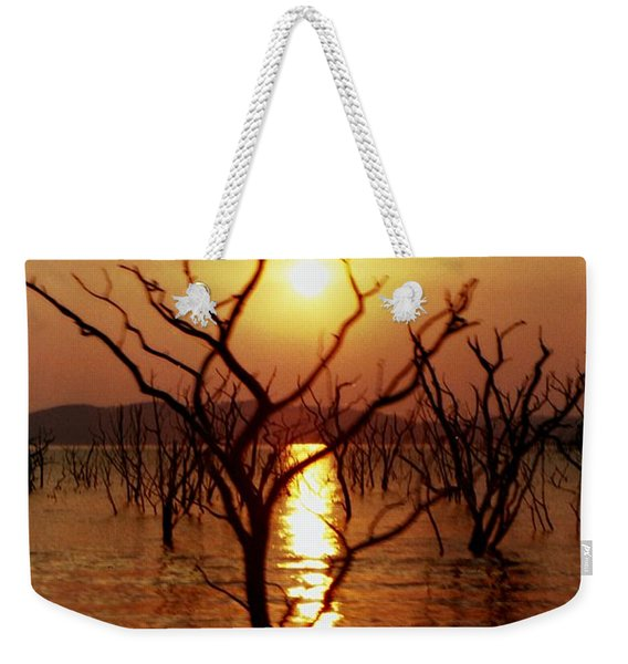 Weekender Tote Bag featuring the photograph Kariba Sunset by Jeremy Hayden
