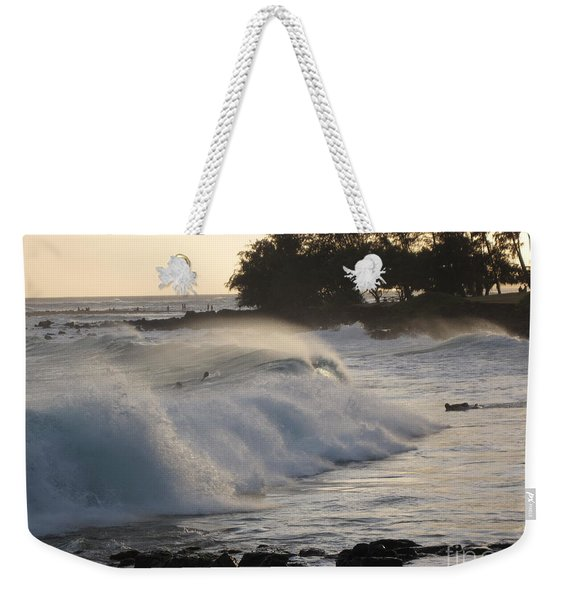 Kauai - Brenecke Beach Surf Weekender Tote Bag