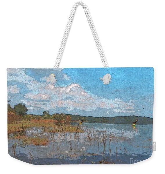 Kayaking At Lake Juliette Weekender Tote Bag