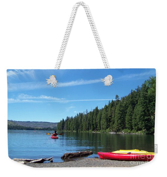 Kayaking On Suttle Lake Weekender Tote Bag