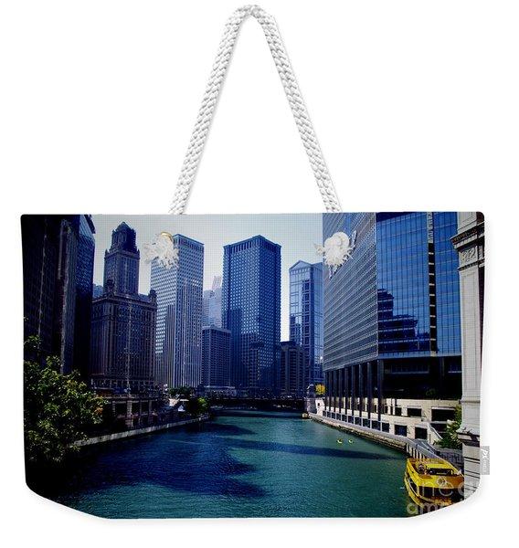 Kayaks On The Chicago River Weekender Tote Bag