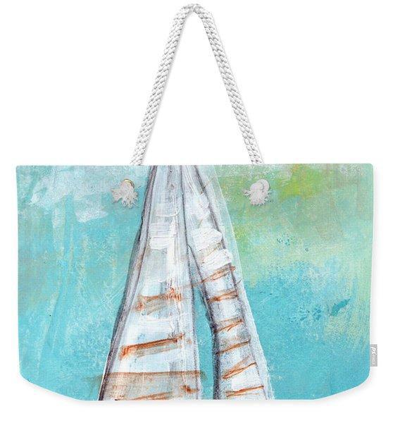 Keep Going- Sailboat Painting Weekender Tote Bag