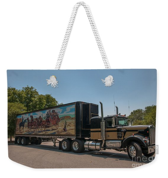 Keep Those Wheels A Truckin Weekender Tote Bag