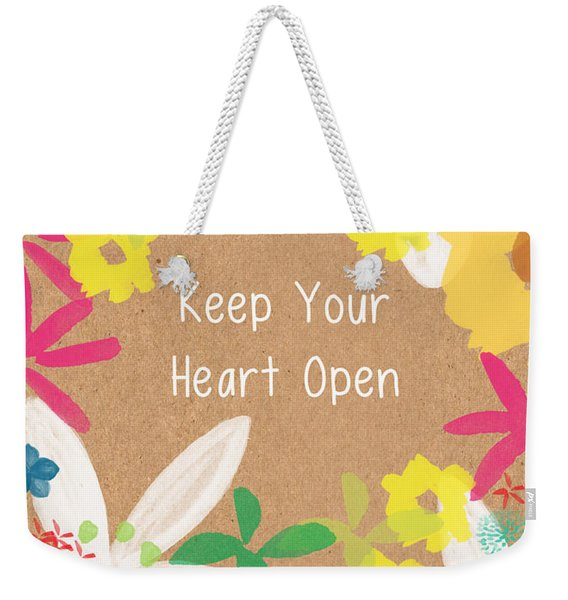Keep Your Heart Open Weekender Tote Bag
