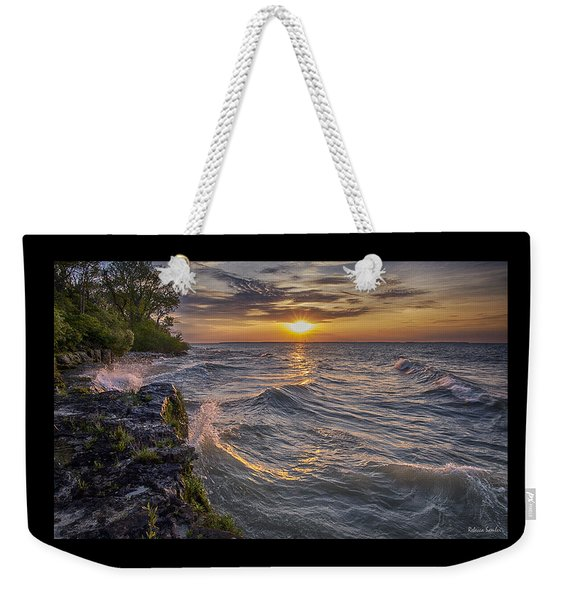 Kelleys Island At Sunset Weekender Tote Bag