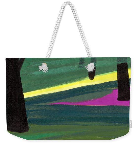 Kensington Gardens Series Light In The Park Oil On Canvas Weekender Tote Bag