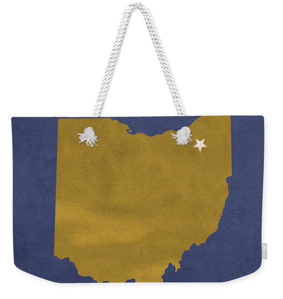 Kent State University Golden Flashes Kent Ohio College Town State Map Poster Series No 053 Weekender Tote Bag