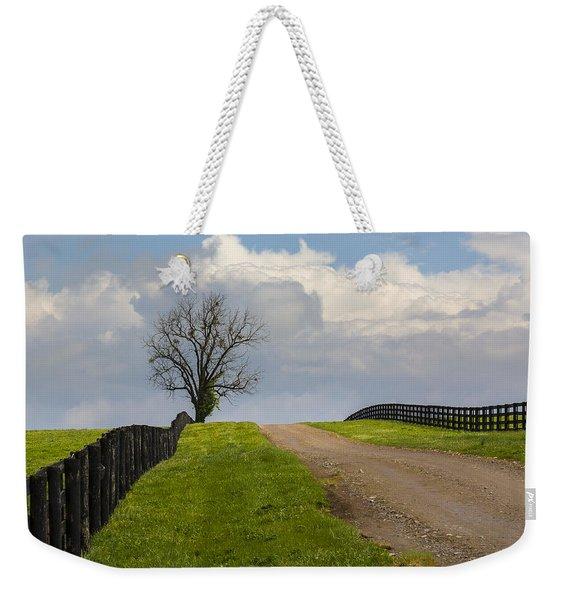 Kentucky Horse Farm Road Weekender Tote Bag