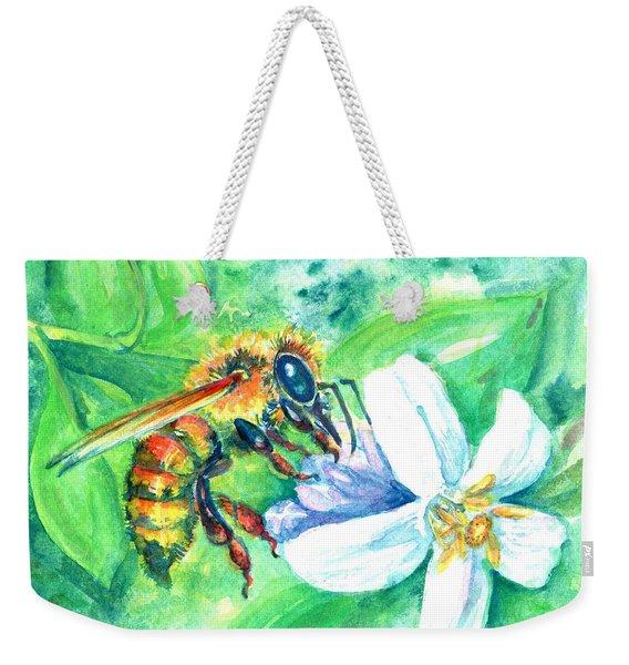 Key Lime Honeybee Weekender Tote Bag