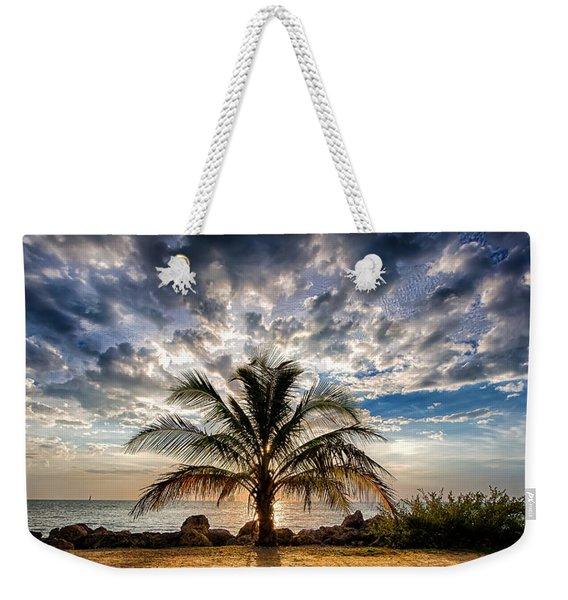 Key West Florida Lone Palm Tree  Weekender Tote Bag