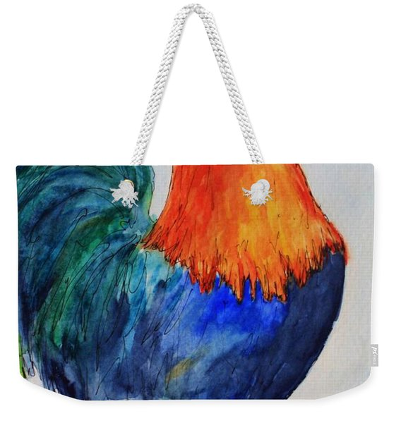 Key West Rooster Weekender Tote Bag