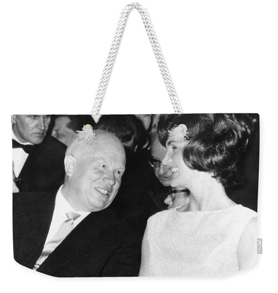 Khrushchev And Jackie Kennedy Weekender Tote Bag