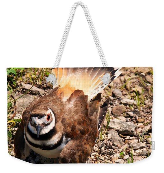 Killdeer On Its Nest Weekender Tote Bag
