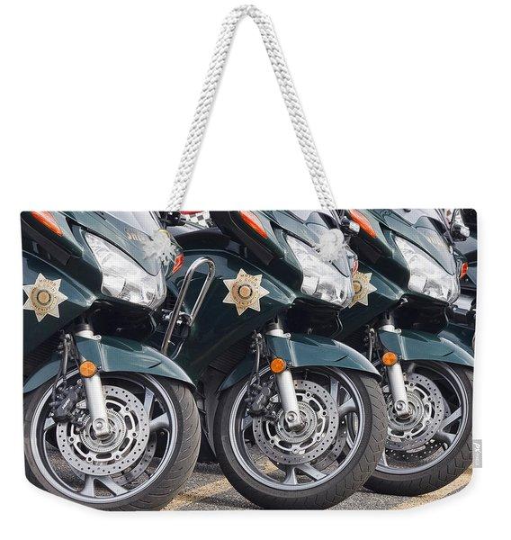 King County Police Motorcycle Weekender Tote Bag