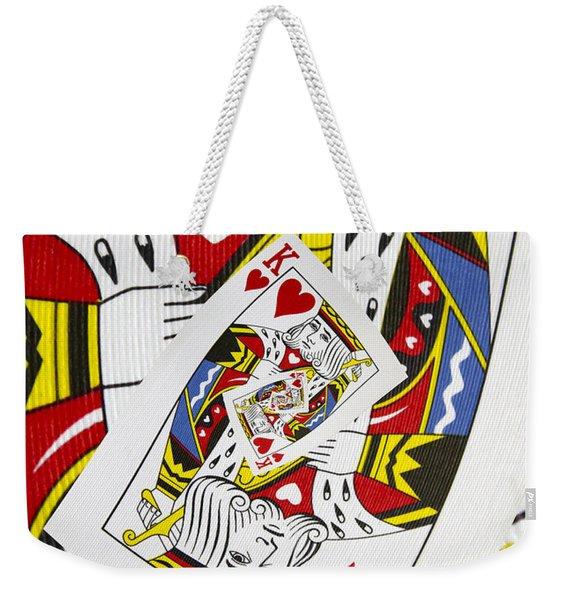 King Of Hearts Collage Weekender Tote Bag