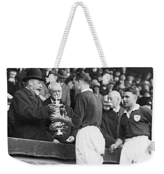 King Presents Soccer Trophy Weekender Tote Bag