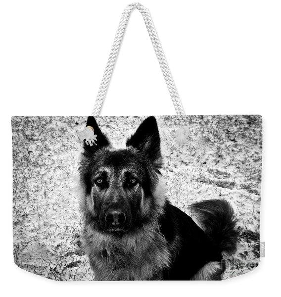 King Shepherd Dog - Monochrome  Weekender Tote Bag