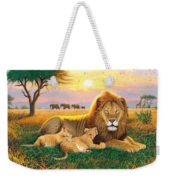 Kings Of The Serengeti Weekender Tote Bag