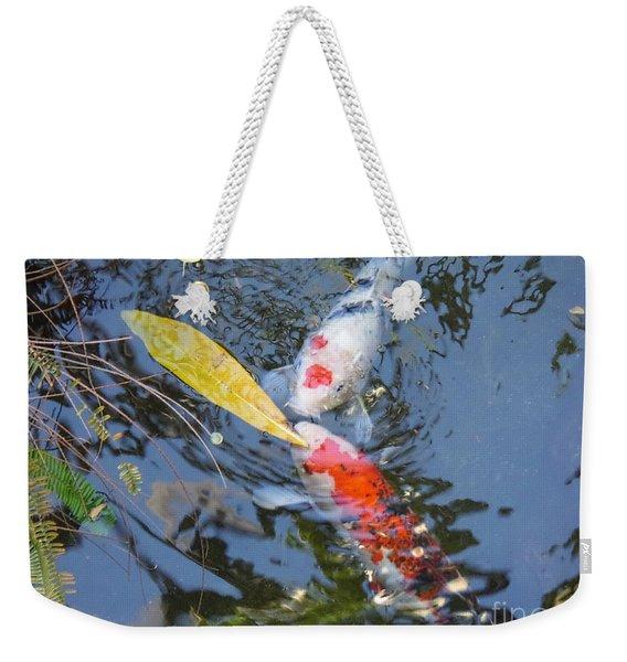 Kissin' Koi Weekender Tote Bag