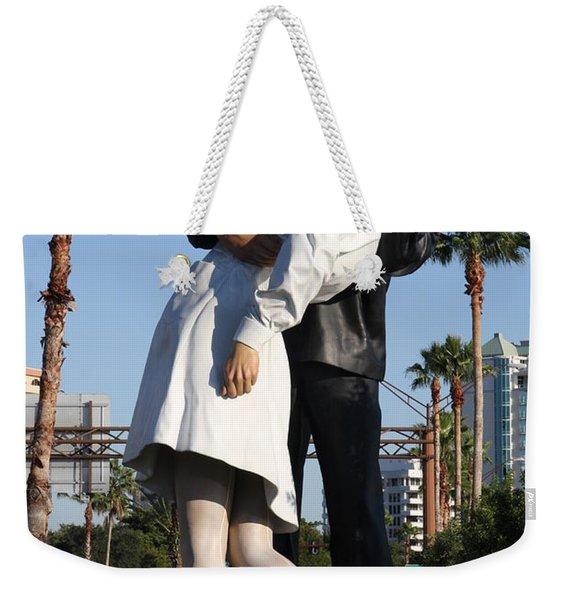 Kissing Sailor - The Kiss - Sarasota Weekender Tote Bag