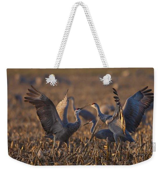 Kissing Sandhills Weekender Tote Bag
